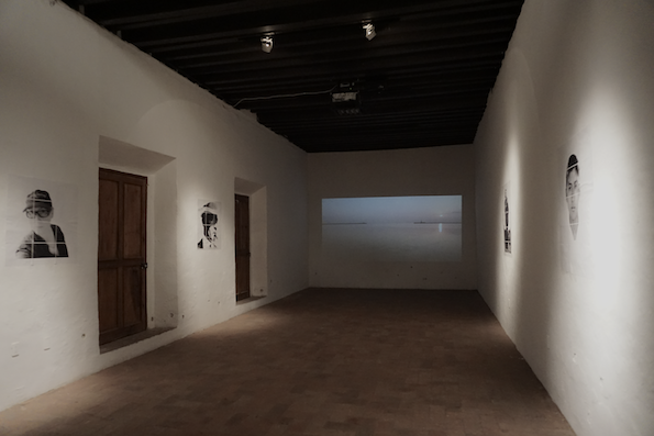 """</B>TYPOLOGIES OF SILENCE<br>MEMORY</B><br>Installation view, Museo del la cuidad, Queretaro<br> parial view of Tipologias del silencio, 2015 <br><br> Kronstrand made this journey primarily to see the city of the Aztec. He started out in November 1923 and left Mexico in January 1924. At the time Veracruz was a major port of entry for European immigrants today. The same district today is frequented by the cargo trains with immigrants from the south """"La Bestia"""". Kronstrand made a number of portraits of prominent people during his stay in Mexico City. Memory is the leakage between Kronstrands and Hallberg's journey in Mexico in two different centruries. <br><br>  Typologies of Silence is a set of social situations where the discourse has been submerged as if there is something that needs to remain hidden. The narratives explore the path between fact and fiction in order to obtain status. In Hallberg's work, this leakage is explored upon as she brings forward and critiques the fragile state of the subject, intertwined with contemporary contingencies touching up on geopolitics, remembrance, and status within society. <br><br> Series include BETWEEN THE TWO OF US, OUTPOST, RECURSIVE DISTANCE, and MEMORY."""