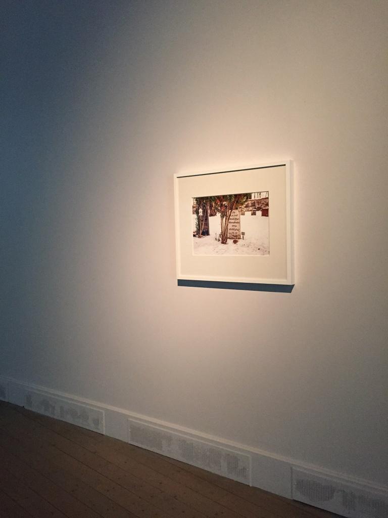 Installation view, Recursive Distance, Giclée print, frame 70×60